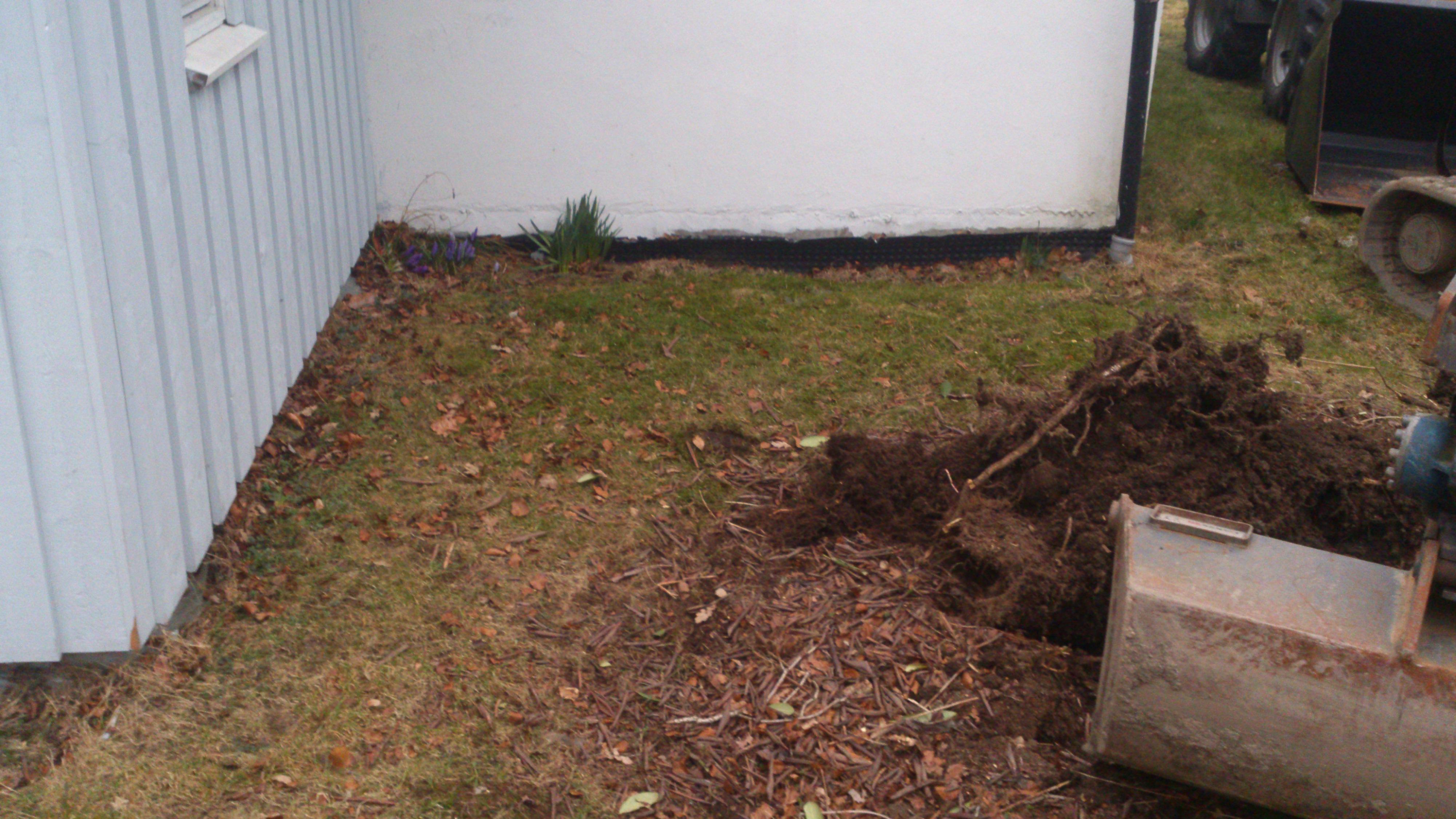 utgraving til tilbygg 1